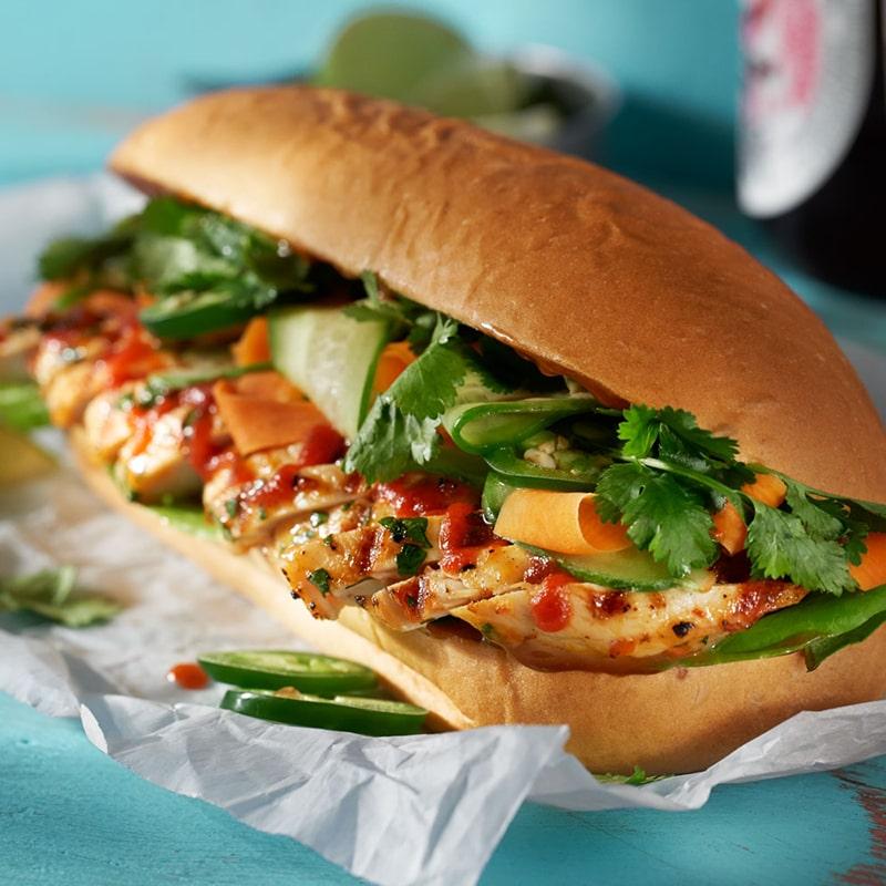 Marinated Chicken Banh Mi